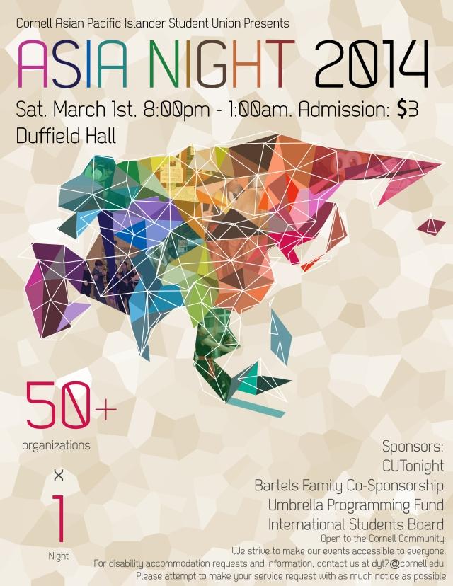 Asia Night flyer
